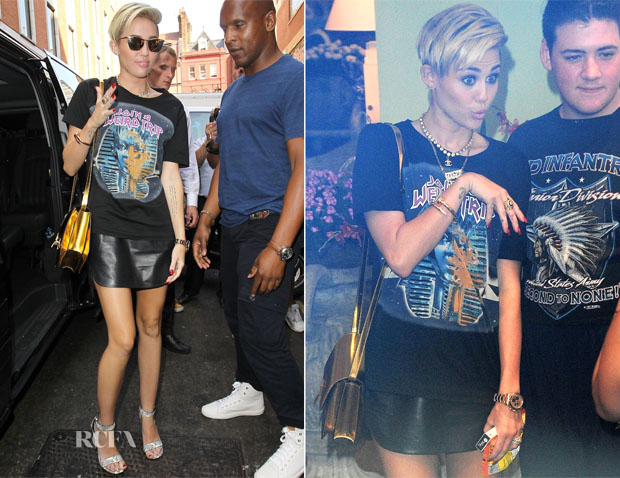 Miley Cyrus In Balenciaga - BBC Radio One, Kiss FM and Capital FM