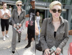 Miley Cyrus In Stella McCartney - Heathrow Airport