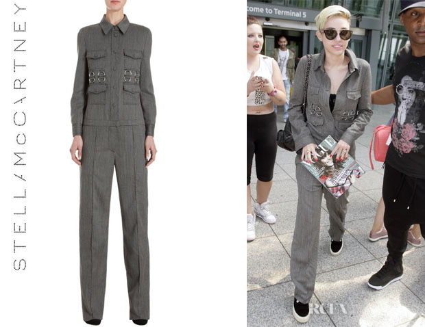 Miley Cyrus' Stella McCartney Tweed Jumpsuit