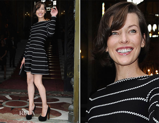 Milla Jovovich In Azzedine Alaia - Bulgari 'High Jewellery Diva' Collection Event