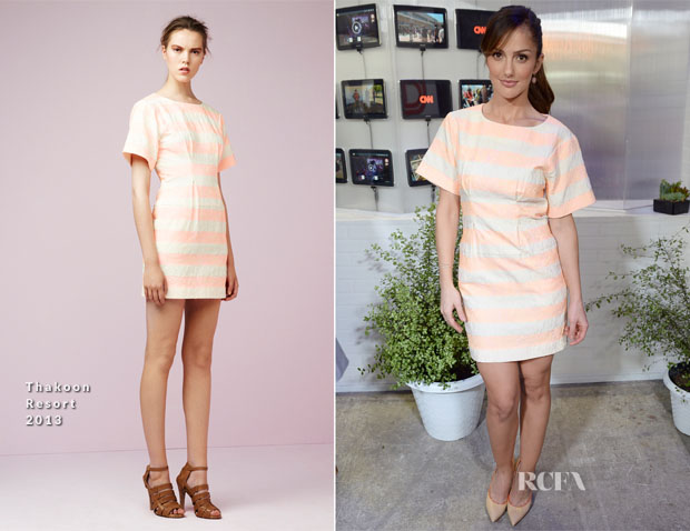Minka Kelly In Thakoon - 'Almost Human' Press Line Comic Con 2013