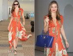 Miranda Kerr In Wes Gordon - Narita International Airport