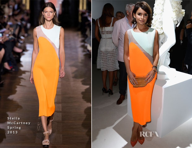 Miroslava Duma In Stella McCartney - Giambattista Valli Fall 2013 Couture Show