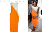 Miroslava Duma's Stella McCartney Sheer Plissé Dress