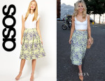 Mollie King's ASOS Abstract Jacquard Midi Skirt
