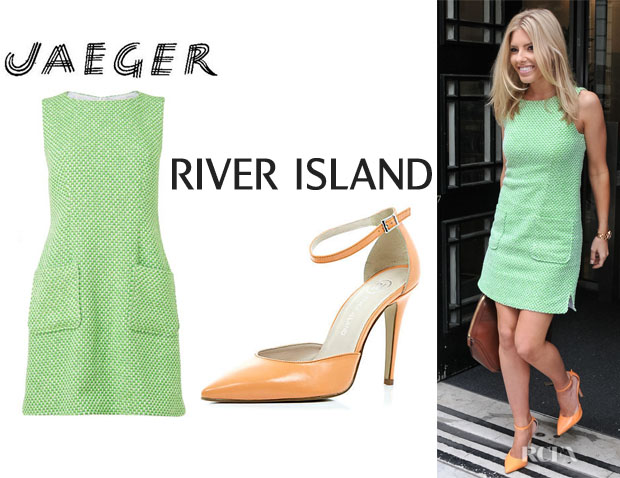 Mollie King's Jaeger Patch Pocket Dress And River Island Shoes