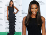 Naomi Campbell In Azzedine Alaia - Novak Djokovic Foundation London Gala Dinner