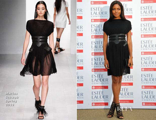 Naomie Harris In Marios Schwab - Fashion Rules Exhibition