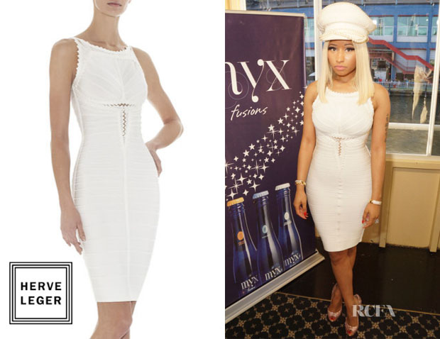 Nicki Minaj's Herve Leger Brookelle Embellished Dress