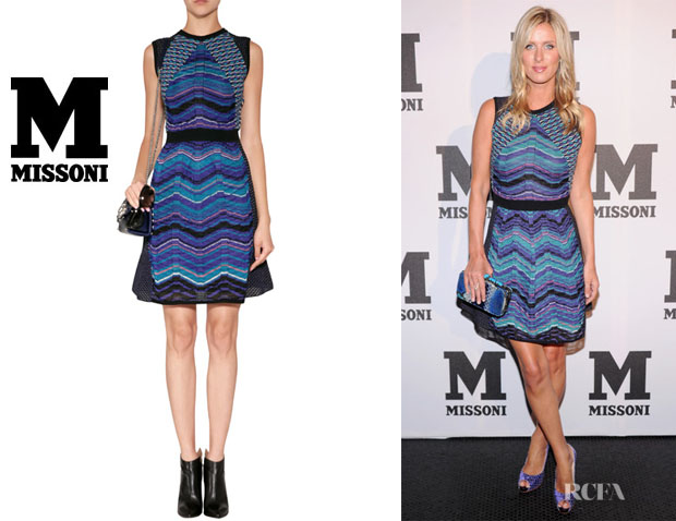 Nicky Hilton's M Missoni Mixed Knit Dress