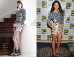 Nina Dobrev In Sachin + Babi - 'The Vampires Diaries' Press Line: Comic Con 2013