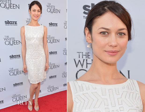Olga Kurylenko In Lorena Sarbu - 'The White Queen' Launch