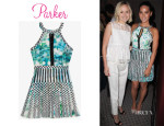 Olivia Munn's Parker 'Selita' Pleated Keyhole Dress