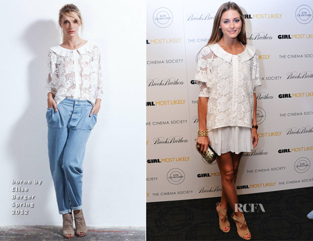 Olivia Palermo In borne by Elise Berger -  'Girl Most Likely' New York Screening