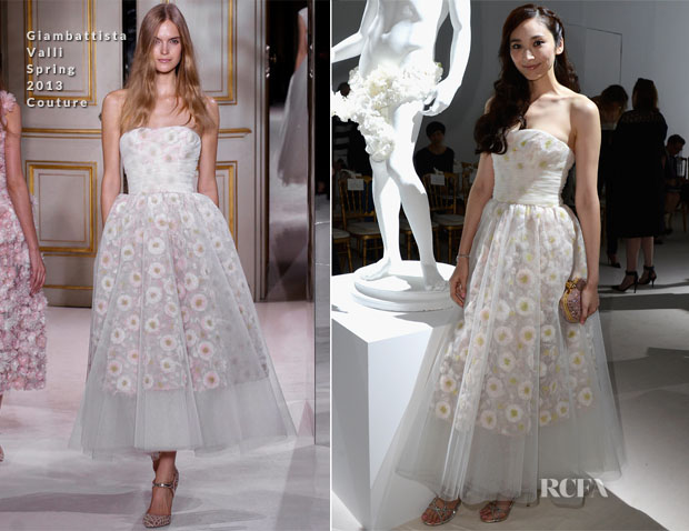 Pace Wu In Giambattista Valli - Giambattista Valli Fall 2013 Couture Show