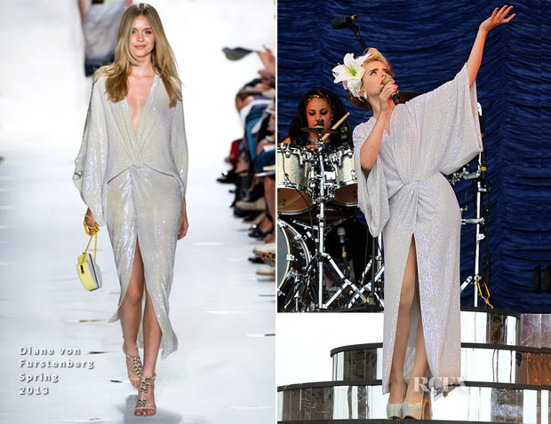 Paloma Faith In Diane von Furstenberg - T In The Park