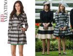 Princess Beatrice RED Valentino Lace Jacquard Trench Coat