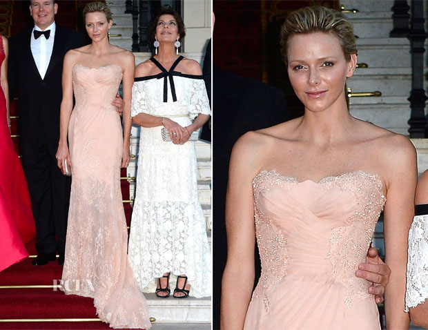 Princess Charlene of Monaco In Atelier Versace - 'Love Ball' In Support Of The Naked Heart Foundation