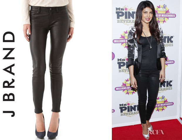 Priyanka Chopra's J Brand Super Skinny Leather Pants