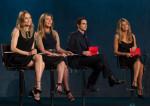 Nina Garcia In Victoria Beckham & Heidi Klum In Vivienne Westwood Anglomania - Project Runway Season 12 Episode 1
