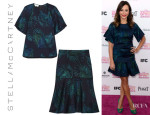 Rashida Jones' Stella McCartney Wool-Blend Jacquard Top & Skirt