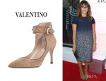 Rashida Jones' Valentino 'Rockstud' Ankle Strap Pumps
