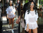 Rihanna In Adam Selman - Out In Birmingham