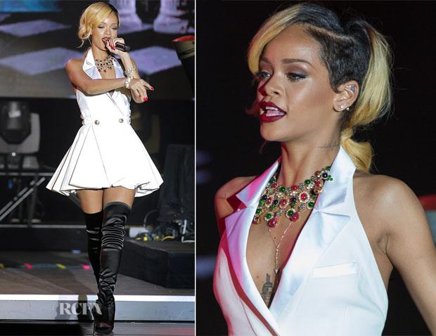 Rihanna In Balmain - Sporting Monte-Carlo Festival