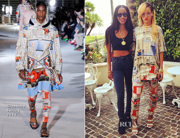 Rihanna In Givenchy - Instagram Pic