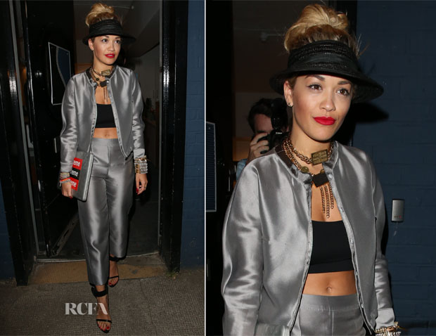 Rita Ora In Gerard Darel - North London Recording Studio