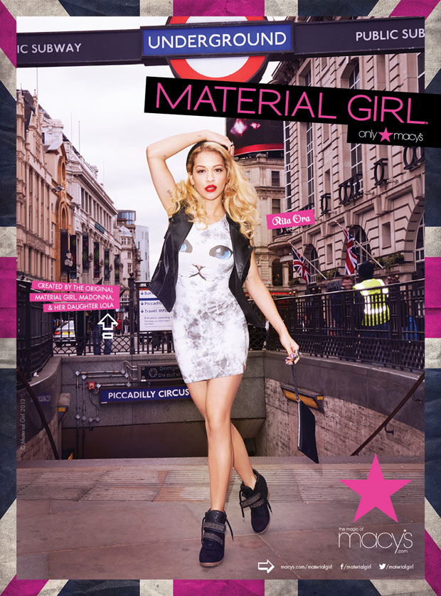 Rita Ora for Material Girl Fall 2013