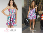 Rochelle Humes' Lipsy Printed Sundress