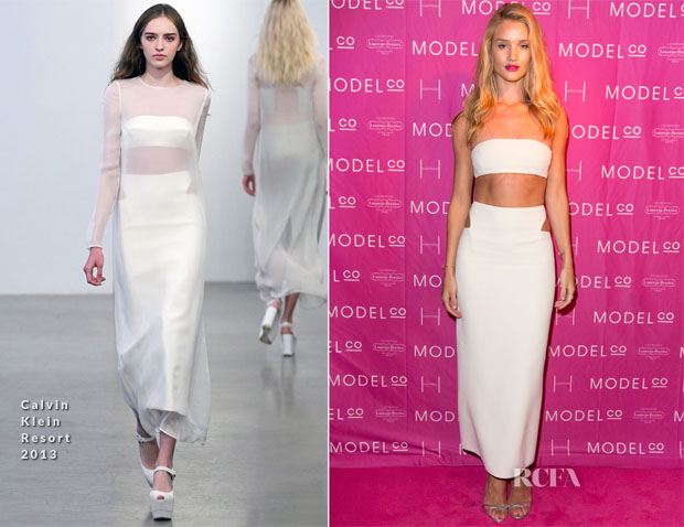 Rosie Huntington-Whiteley In Calvin Klein - ModelCo Black Tie Event