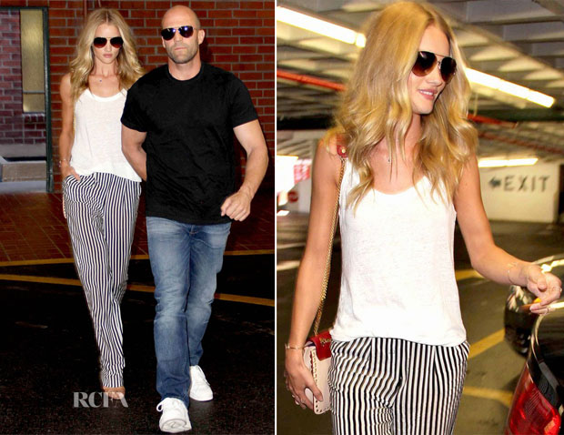 Rosie Huntington-Whiteley In Gerard Darel - Out In LA