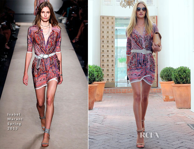 Rosie Huntington-Whiteley In Isabel Marant - Out In LA