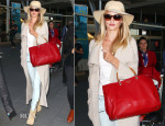 Rosie Huntington-Whiteley In Pierre Balmain - Sydney International Airport