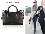 Rosie Huntington-Whiteley's Burberry Prorsum Heart Print Calf Hair and Leather Tote