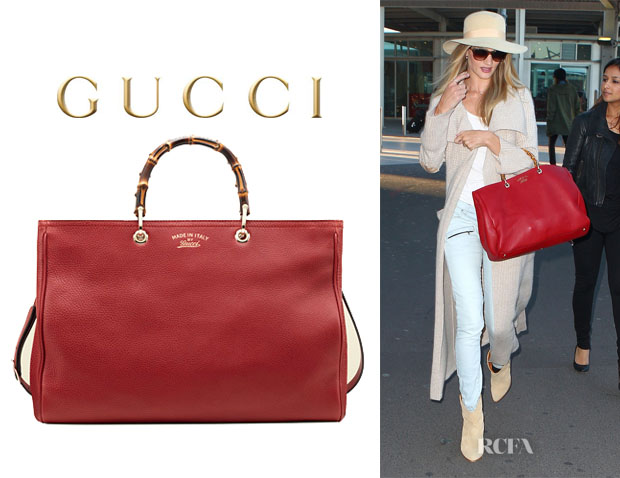 Rosie Huntington-Whiteley's Gucci Bamboo Leather Tote