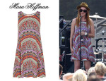 Rumer Willis' Mara Hoffman Rainbow Printed Dress