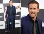 Ryan Reynolds In Burberry - 'Turbo' New York Premiere