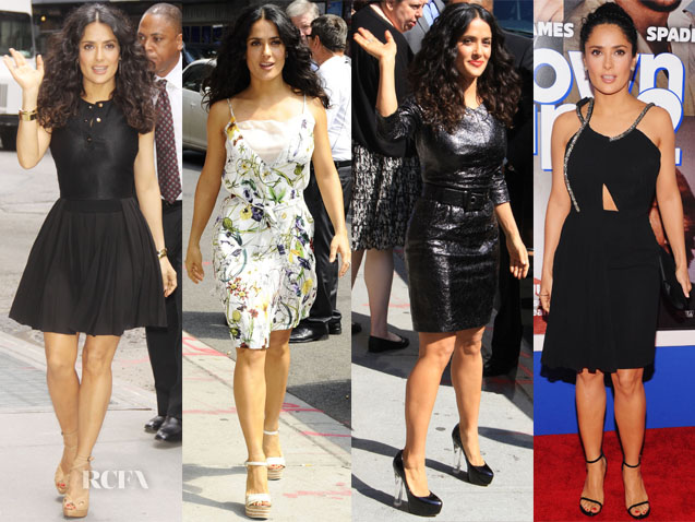 Salma Hayek Grown Ups 2 New York Promo Tour