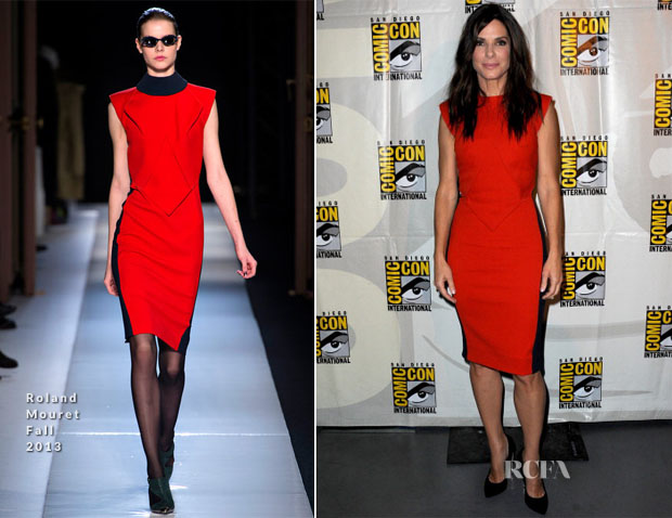 Sandra Bullock In Roland Mouret - 'Gravity' Preview Comic Con 2013