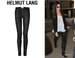 Sandra Bullock's Helmut Lang 'Patina' Stretch Leather Leggings