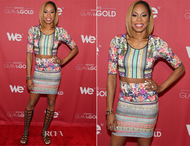 Sanya Richards-Ross In Clover Canyon - 'Sanya's Glam & Gold' New York Screening