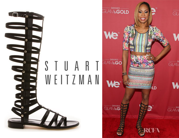 Sanya Richards-Ross' Stuart Weitzman Gladiator Boots