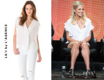 Sarah Michelle Gellar's LA'T by L'Agence Sleeveless Ruffle Top