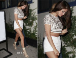 Selena Gomez In Missguided & Topshop - Bagatelle Restaurant