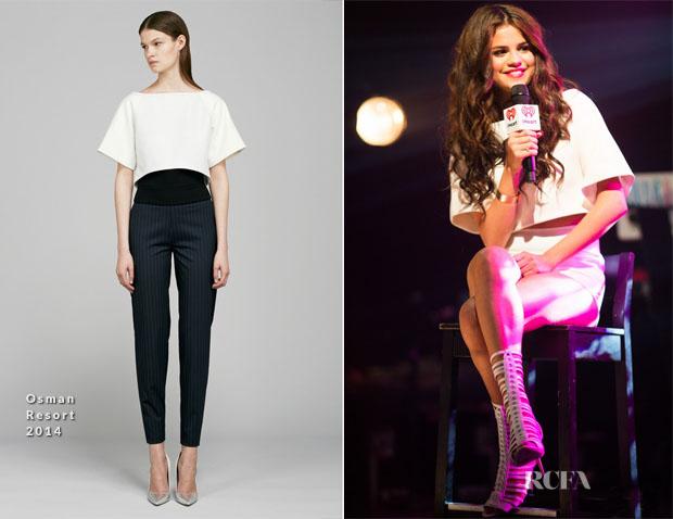 Selena Gomez In Osman & Houghton - iHeartRadio Coca-Cola Summer Concert Series