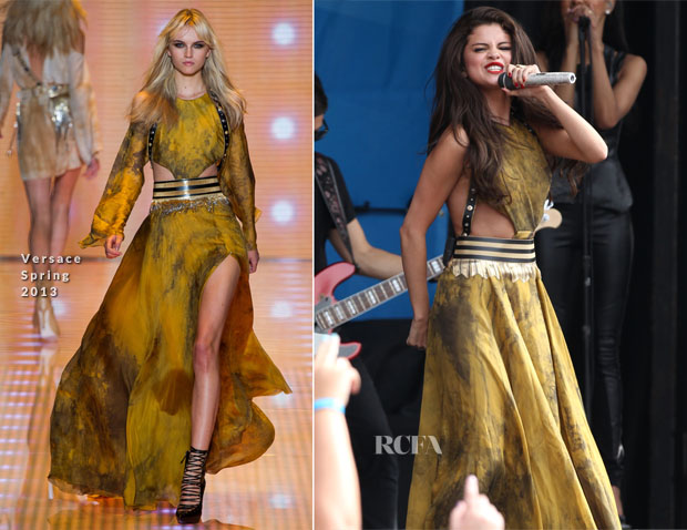 Selena Gomez In Versace - 103 3 AMP Radio Birthday Bash