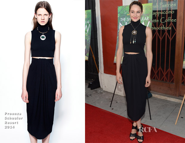 Shailene Woodley In Proenza Schouler - 'The Spectacular Now' LA Screening